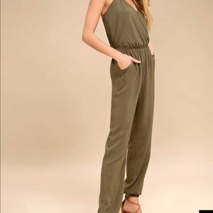 Lulus learning to fly jumpsuit SM